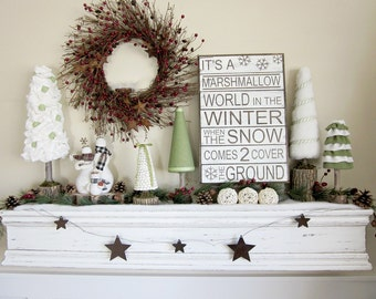 IT'S A Marshmallow World... with snowflakes -Vinyl Wall Saying