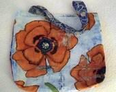 Reversible Tote Bag Orange Blue Laura Gunn Poppy