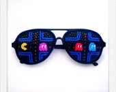 Hand Drawn Shades (pac-man) - colorful sunglasses for fun costume, party decoration and special occasions (Ship on 26 Nov onwards)
