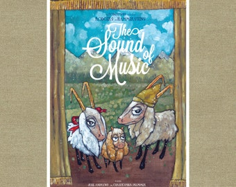 The Lonely Goatherd Inspired Movie Poster - The Sound of Music Art Print 11 x 17