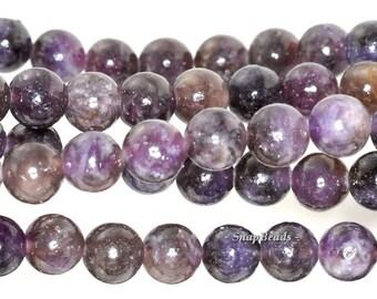 8mm Mauve Lepidolite Gemstone Grade A Purple Round 8mm Loose Beads 7.5 inch Half Strand (90111899-132)