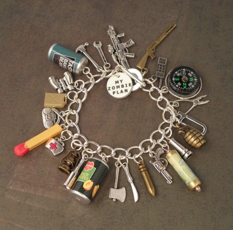 zombie plan charm bracelet for the zombie apocalypse the