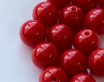 10 mm Opaque Round Shape Acrylic Candy Beads of Different Colors (.ma)