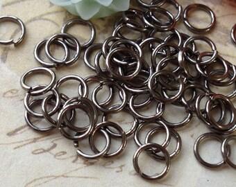 5 mm Gunmetal Jump Ring Findings (.ahg)
