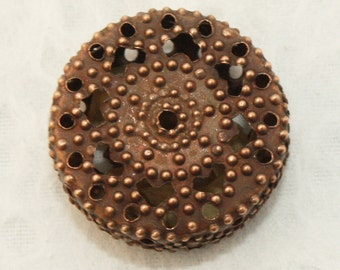Copper Filigree Iron Beads 19mm (12 pcs) C12