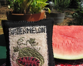 Primitive Punch Needle Watermelon Seed Packet Pattern