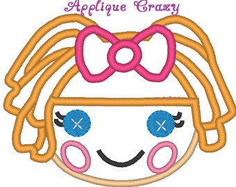 Doll Face Applique design (orange hair)