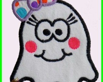 Girly Ghost Applique design