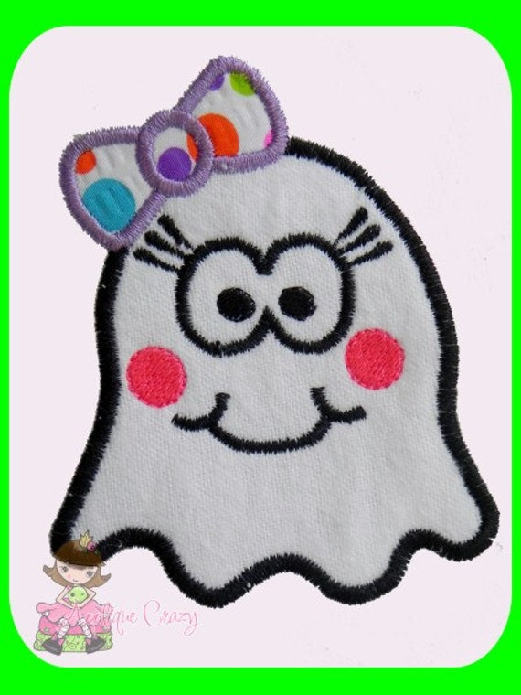 Girly Ghost Applique design