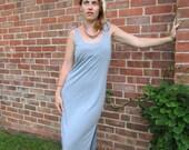Steel Blue Clingy Dress