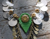 Green Fairy- green tribal belly dance talhakimt necklace