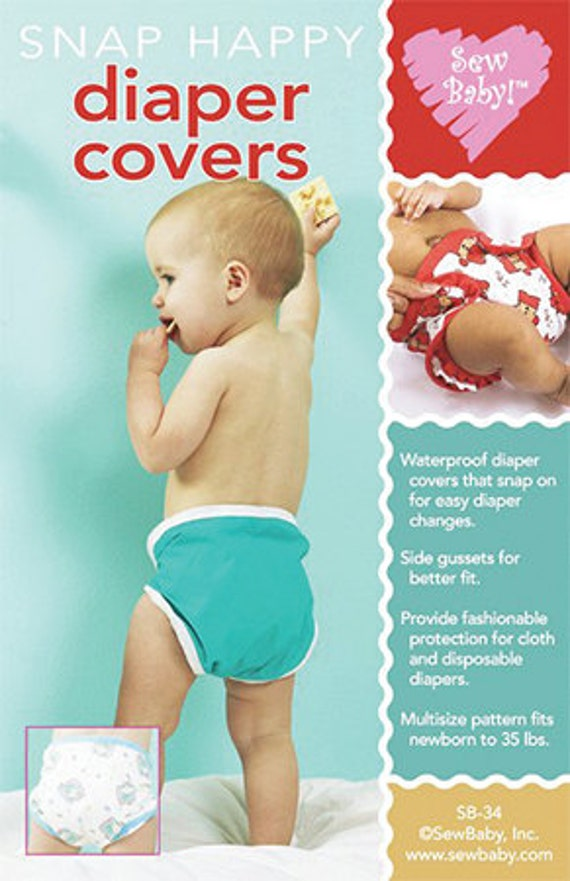 Diaper Covers Pattern Snap Happy by Sew Baby Newborn to 35lbs