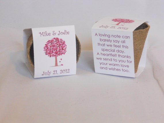 Wedding Favor Plantable Biodegradable Seed Cups With Soil and Seeds