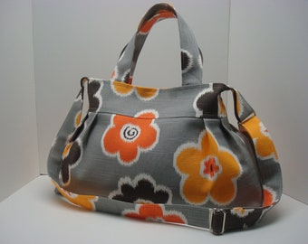 Pleated cotton handbag