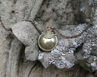 Antique Vintage Tibetan Silver Perfume Snuff Necklace