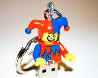 128GB Jester USB Flash Drive with Keychain