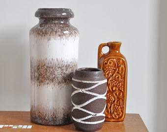Scheurich fat lava vase | 517-30 | West Germany