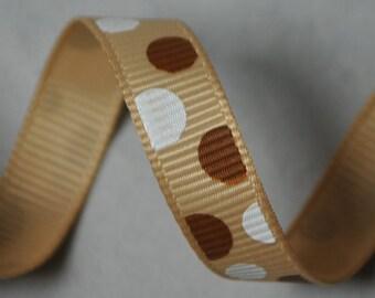 Polka Dots Grosgrain - 6 yards, 3/8 inch wide