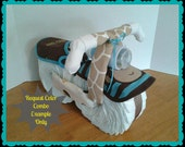 Diaper Cake - Diaper Motorcycle - Baby Shower Gift - Boy - Baby Shower Centerpiece