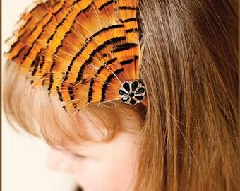 Feather Headband - Pheasant