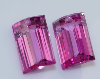 Final sale light pink topaz drilled one pairs 17x10 mm