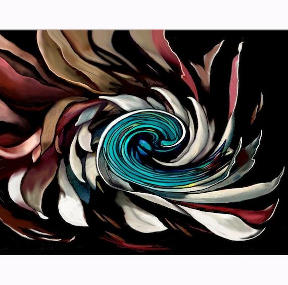 ELEGANCE OF INFINITY Art Abstract Zen Oil Painting Print