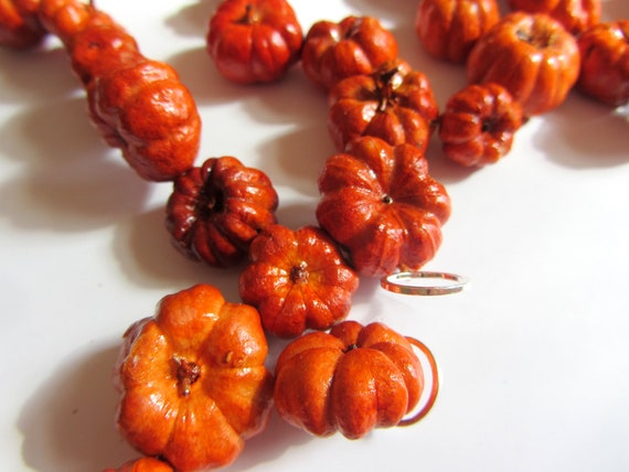 Pumpkin Garland Rustic Autumn Weddings Home Decor Fall and Thanksgiving Table Decoration
