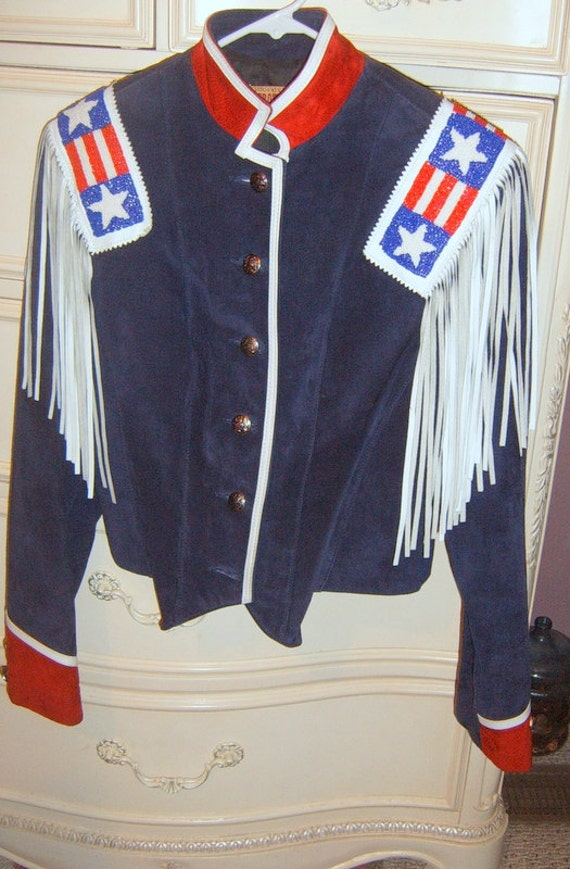 SALE  SALE   Vintage Ladies Western Jacket, Suede , Rodeo Jacket, Size Small, Made In USA  ,Frontier Collection