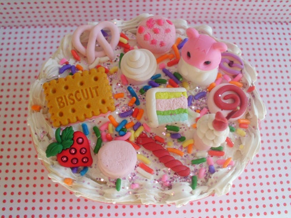 Pink Deco Den Box Trinket Holder Jewelry Ooak Decorated Box Hamster Sweets Cake Candy Charms