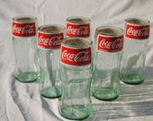 Recycled Coke Glass Bottle Coca-Cola Tumblers - Set of 6