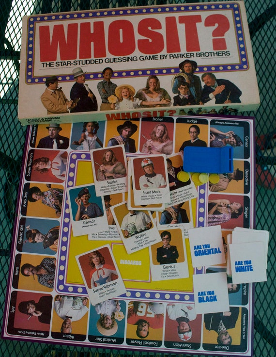 Whosit Vintage Board Game - 1976 Parker Brothers - Retro Star Studded Guessing Game - Downstate