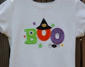 Appliqued Halloween BOO Shirt