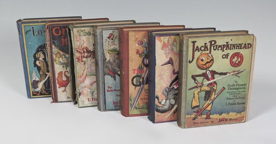 Collection of (6) FIRST Edition 'Wizard of OZ' Books (by Ruth Plumly Thompson) plus 'The Sea Fairies' (L. Frank Baum), all illus by J. Neill