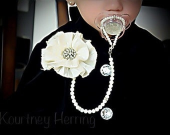 5in1 Convertible Pacifier Clip Necklace Bracelet Hair Accessory