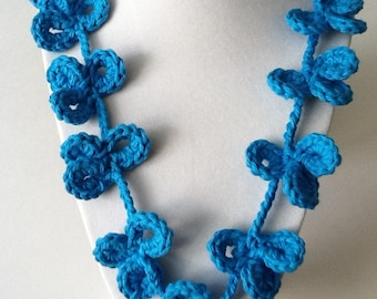 Flower Loop Handmade Crochet Necklace