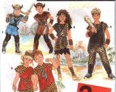Childs Halloween Costume-1993 CUT Pattern Caveman & Viking