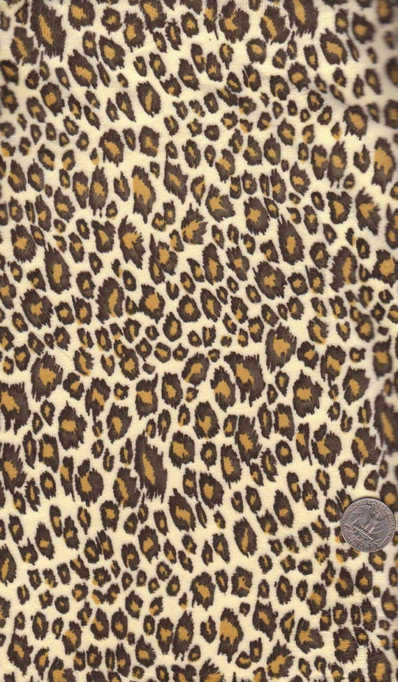 "Minkee Cuddle Safari Animal Cheetah print by Benartex 01528-01 - one Yd 60"" x 36"""