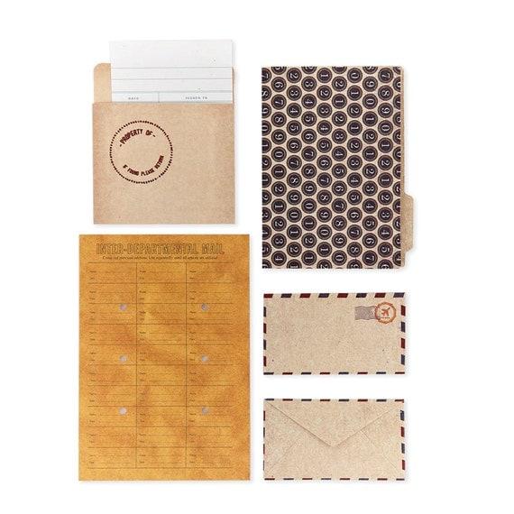50% OFF - Basic Grey Clippings Mini Envelopes