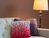 Crochet Pillow Cover Pattern with Ombre Gradient Pattern