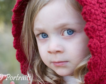 Little Red Riding Hood Cape- Crochet Pattern- Permission to sell finished product-INSTANT DOWNLOAD