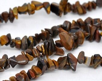 Tigers Eye Beads - Gemstones - 5x2mm - 10x5mm - Ships IMMEDIATELY  from California - B158