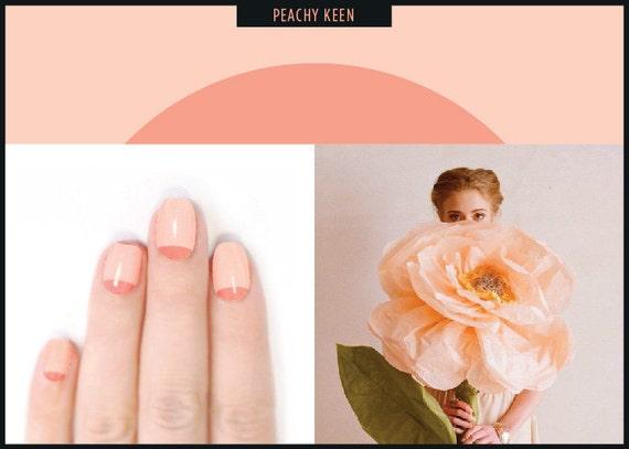 DUUET nail art - adesivos de unhas DIY - KEEN PEACHY
