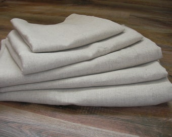 Flax Bed Linen Set... Queen Size Flat Sheet and Two Pillowcases Eco - Custom size