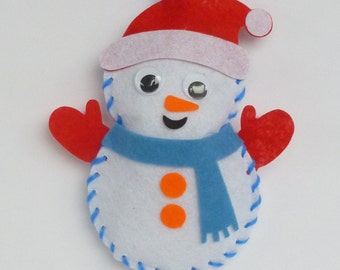 Instant Download Snowman bean bag sewing pattern. Kids craft. Size 12cm. Toy, christmas decoration. Snowman template, chart.