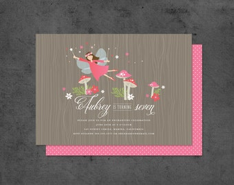 Woodland Fairy Party Invitation with Fairies and Toadstools (15)