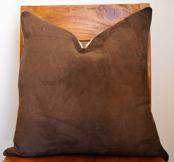 Leather and Linen Pillow Cover Size 20x20