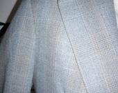 60s sky blue retro mad man rockabilly single breasted  window pane AM JERIS 36r  b59