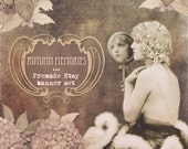 Etsy graphic vintage rerto girl design package premade Shop Banner Set