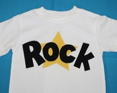 Boys T Shirt Rock Star applique 2T, 3T, and 5T in stock. Choose your colors  Made to order. Ships within 48 hours.