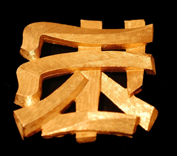 Napier Chinese Character Brooch